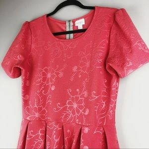 "LuLaRoe Dresses - LuLaRoe ""Amelia"" Embossed Dress - Size Large"